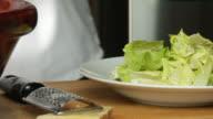 Preparing a salad video
