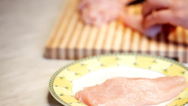 Preparing chicken meal video