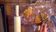 Preparing Christmas Cookies in Domestic Kitchen video