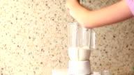 Preparing cocktail by blender video