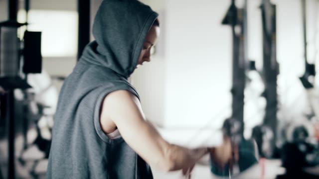 Preparing for weightlifting video