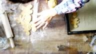 Preparing Gingerbread Christmas Cookies video