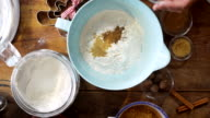 Preparing gingerbread dough for Christmas Baking video