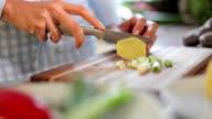 Preparing healthy food video