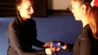 Preparing Her Hands For Combat video
