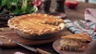 Preparing Homemade Chicken Meat Pie video