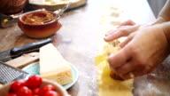 Preparing Homemade Ravioli Pasta video