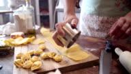 Preparing Homemade Tortellini Pasta video
