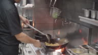 Preparing Meal In A Wok. video