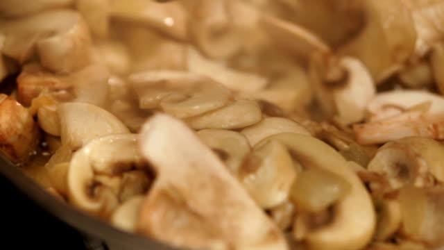 Preparing mushroom  meal video