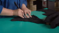 Preparing pieces of leather video