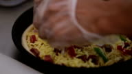 preparing pizza in the kitchen video