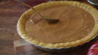Preparing Pumpkin Pie for the Holidays video