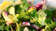 preparing salad video