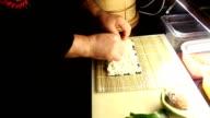 Preparing Salmon Avocado Roll video