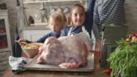 Preparing Stuffed Turkey for Holidays video