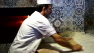 HD: Preparing Traditional Turkish Pastry called as Pide video
