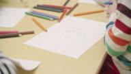 4K: Preschool Children Coloring and Sketching. video