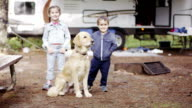Preschooler Children RV Camping with Dog video