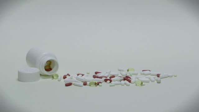 Prescription Drugs Medicines Pills Tablets For Sick Ill Man People video