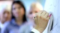 Presentation. Focus on hand. video