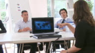 IT presentation to boardroom business office video