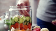 Preserving Organic Vegetables in Jars video