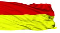Pretoria City Isolated Waving Flag video