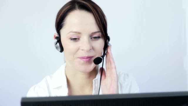 Pretty customer service at work. video