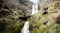 Pretty Llanrhaeadr Waterfall Filmed In Super Slow Motion video