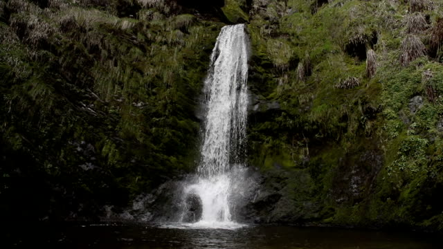 Pretty Llanrhaeadr Waterfall Filmed In Super Slow Motion video