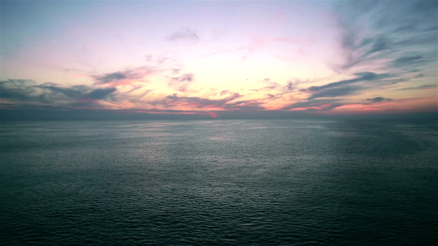 Pretty Ocean ripple with Beautiful Clouds in blue Sky video