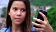 Pretty Teen Girl Posing For Selfies video