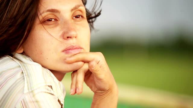 Pretty woman portrait video