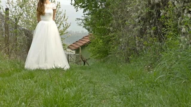 Pretty Young Princess Bride Nature Farm Rural Eco Living Concept video
