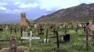 Primitive Cemetery Pueblo Native American Burial Site. video