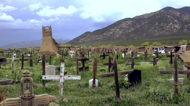 Primitive Cemetery Pueblo Native American Burial Site. video