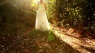Princess Bride Model Beauty Girl Fairytale Concept Background video