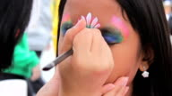 Princess Crown Face Painting On Asian Girl video