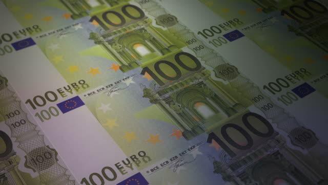 print 100 euro bill video