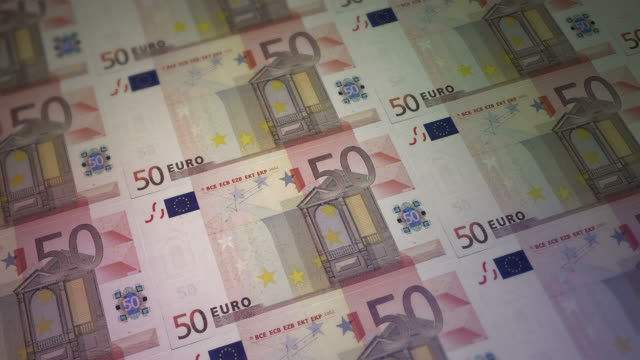 print 50 euro bill money video