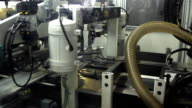 print press typography machine in work video