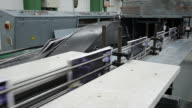 printed book production line into press plant house video