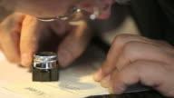 printer checks letterpress type video