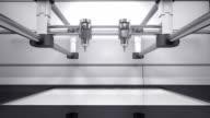 3D printer making Dollar money gold currency sign, 3D scanner video