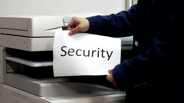Printing a security text document on printer machine video