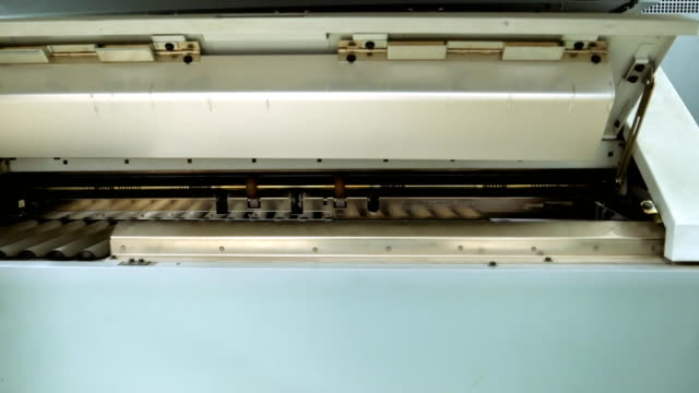 Printing and folding machine for big size drawing video