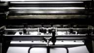 Printing machine video