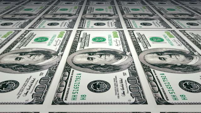 Printing of 100 dollar banknotes video
