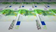 Printing of 100 Euro banknotes video